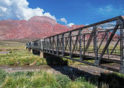 Old iron bridge Uspallata Mendoza Argentina