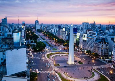buenos-aires de noche el obelisco iluminado argentina que visitar en la noche
