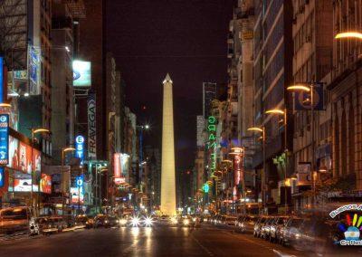 foto de buenos aires de noche ciudad en la noche argentina