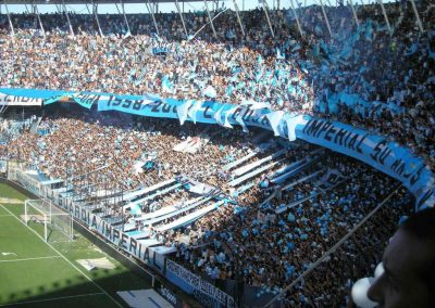 hinchas hinchada Racing Club Buenos Aires Argentina